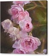 Pink Winter Roses One Canvas Print