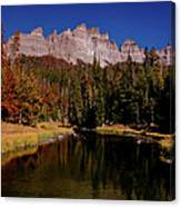 Pinnacle Buttes On Brooks Lake Creek Rocky Mountains Canvas Print