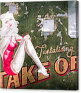 Pinup Girl - Aircraft Nose Art - Take Off Anne Canvas Print