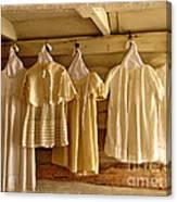 Pioneer Days-child's Dresses Canvas Print