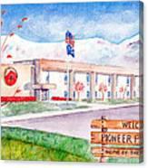 Pioneer Peak Elementary School Canvas Print