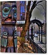 Pioneer Square Totem Pole Canvas Print