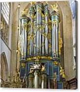 Pipe Organ In Breda Grote Kerk Canvas Print
