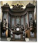 Pipe Organ In St Sulpice Canvas Print