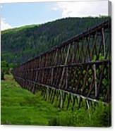 Pipeline Trestle Canvas Print