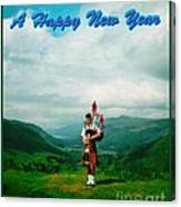 Piper Greeting The New Year Canvas Print