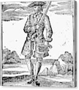 Pirate John Rackam, 1725 Canvas Print