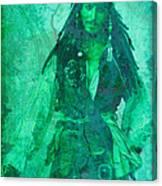 Pirate Johnny Depp - Shades Of Caribbean Green Canvas Print