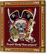 Pirate Mardi Gras Version 1 Vector Sample Canvas Print