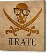 Pirate Math Nerd Humor Poster Art Canvas Print