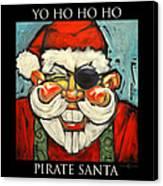 Pirate Santa Poster Canvas Print