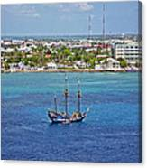 Pirate Ship In Cozumel Canvas Print