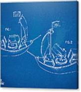 Pirate Ship Patent - Blueprint Canvas Print