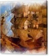 Pirate Ship Photo Art Canvas Print