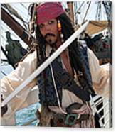 Pirate With Sword Canvas Print