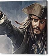 Pirates Of The Caribbean Johnny Depp Artwork 2 Canvas Print