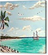 Pirates On Pavilion Key Canvas Print