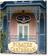 Pirates Signage New Orleans Disneyland Canvas Print