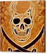 Pirates Skull Digtal Painting Canvas Print