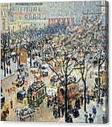 Pissarro's Boulevard Des Italiens In Morning Sunlight Canvas Print