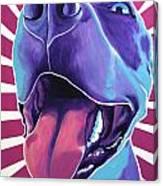 Pit Bull - Valen Canvas Print