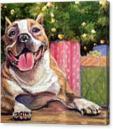 Pitbull Christmas Canvas Print