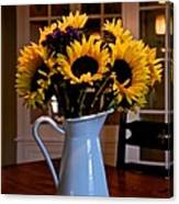 Pitcher Of Sunflowers Canvas Print