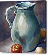 Pitcher With Tomato Canvas Print