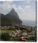 Pitons St. Lucia Canvas Print