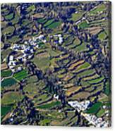 Pitres And Capilerilla From The Air Canvas Print