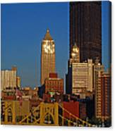 Pittsburg At Dusk Canvas Print