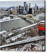 Pittsburgh Duquesne Incline Winter Canvas Print