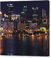 Pittsburgh After The Setting Sun Canvas Print