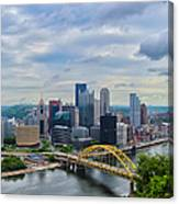 Pittsburgh And Above Canvas Print