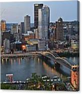 Pittsburgh Before Sunset Canvas Print