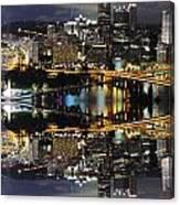Pittsburgh Dusk Reflection 2 Canvas Print