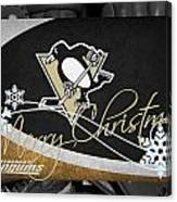 Pittsburgh Penguins Christmas Canvas Print