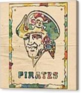 Pittsburgh Pirates Vintage Art Canvas Print