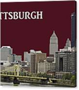 Pittsburgh Poster Canvas Print