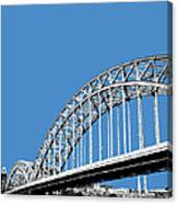 Pittsburgh Skyline 16th St. Bridge - Slate Canvas Print