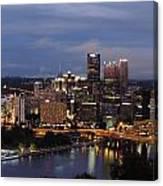 Pittsburgh Skyline At Dusk From Mount Washington Canvas Print