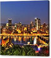 Pittsburgh Skyline At Night Canvas Print