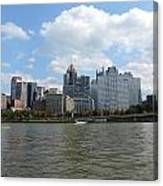 Pittsburgh Skyline From The Waterfront Canvas Print