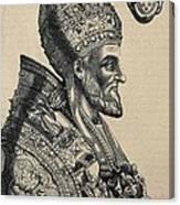Pius Iv 1499-1565. Pope 1559-1565 Canvas Print