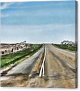 Pivot Lines Canvas Print