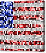 Pixel Flag Canvas Print