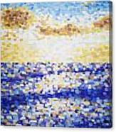 Pixelated Sunset Canvas Print