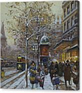 Place De La Republique Paris Canvas Print