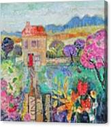 Place In The Country, 2014, Acrylicpaper Collage Canvas Print