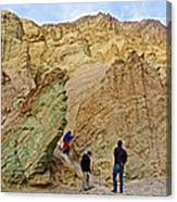 Places To Climb In Golden Canyon In Death Valley National Park-california Canvas Print